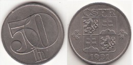 CECOSLOVACCHIA 50 Haleru 1991 KM#144 - Used - Cecoslovacchia