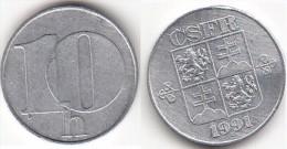 CECOSLOVACCHIA 10 Haleru 1991 KM#146 - Used - Cecoslovacchia
