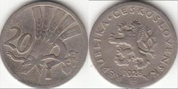 CECOSLOVACCHIA 20 Haleru 1928 KM#1 - Used - Cecoslovacchia