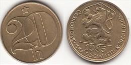 CECOSLOVACCHIA 20 Haleru 1985 KM#74 - Used - Tschechoslowakei