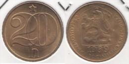 CECOSLOVACCHIA 20 Haleru 1989 KM#74 - Used - Cecoslovacchia