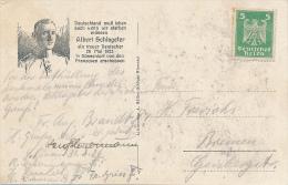 ALBERT SCHLAGETER - Mitglied der NSDAP , w�hrend der Ruhrbesetzung wegen Sabotage 1923 hingerichtet