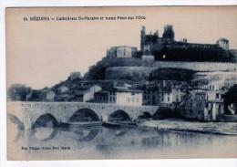2700 Postal Francia  Beziers , Catedral , El Puente - Beziers