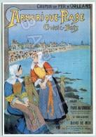 Affiche Sur Carte Postale - Chemin De Fer D´Orléans - Croisic - (Illustration De Batz) - Publicité