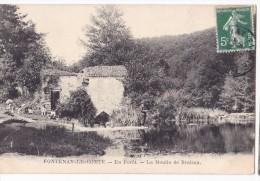 FONTENAY LE COMTE. - La Forêt Au Moulin De Bruleau. Belle Animation. Pêcheur 1er Plan - Fontenay Le Comte
