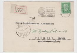 W243/ Unterfrankierte Postkarte Nach Ungarn 1930,Sondertarif Nach Ungarn 10 Pfg. - Briefe U. Dokumente