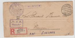 W244/ Grundschuldbescheid Vom Finanzamt Freiburg 1924 - Deutschland