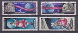 Mongolia 1961 Space 4v Used (22233) - Asia