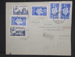ROUMANIE-Enveloppe En Expres De Bucarest Pour Paris En 1948  Aff Plaisant( Quadricolore) à Voir  P6078 - 1918-1948 Ferdinand, Charles II & Michael