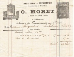 Facture O.MORET - Menuisier à VITRY Aux LOGES - Petits Métiers