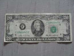 billet 20 dollars U.S.A Jackson 1985