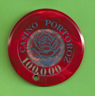 TOKEN SLOVENIA CASINO PORTOROZ 100.000 - Casino