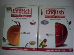 M#0G12 VISUAL ENGLISH DIZIONARIO ILLUSTRATO 2 Vol. Ed.Corriere Della Sera 1998 - Dizionari