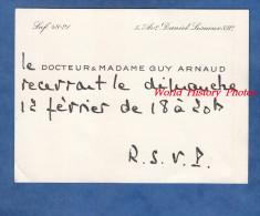 Carte De Visite Ancienne - PARIS 8e - Docteur & Madame Daniel CLéMENT - 21 Avenue De Messine - Visiting Cards