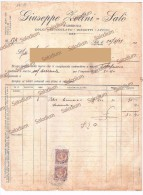 1929 - Zelini SALO´ - Fabbrica Dolci Cioccolato Biscotti - Lago Di Garda - Erinnofilia Centesimi 20 +20 - Italie