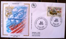FRANCE 2eme Guerre Mondiale, Hommage Aux Libérateurs 1944 1994. Yvert N°2888 FDC 50 Eme Anniversaire Liberation - 2. Weltkrieg