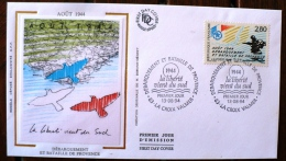 FRANCE 2eme Guerre Mondiale, DEBARQUEMENT ET BATAILLE DE PROVENCE; Yvert N°2895 FDC - 2. Weltkrieg