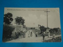 """86) Saint-genest-d'ambière - Croix De Mission - Route De La Chinière """" Attelage """" - Année   - Edit : Ledoux - France"""