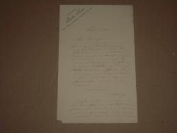 Lettre Autographe Signée PAULINE SAVARI Journaliste Féministe ~1880 / Candidate Académie Française - Autographs