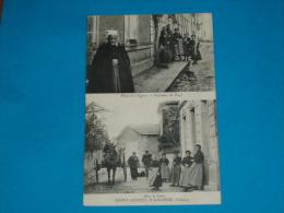 """86) Saint-genest-d´ambière - Place De L'église - Costume Du Pays - Rue De La Gare """" Attelage  - Edit : Arambouroux - France"""
