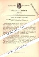 Original Patent - J. Fondu-Bloemendal In Vilvorde , 1885 , Gepäckhalter Für Eisenbahn !!! - Historical Documents