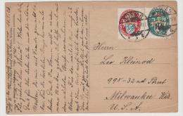 W245/ Nothilfe (Wappen) 195 Auf Karte In Die USA - Briefe U. Dokumente