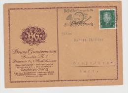 W247/ Firmenkarte 1928 Mit Posrkraftwagen Werbung. - Briefe U. Dokumente