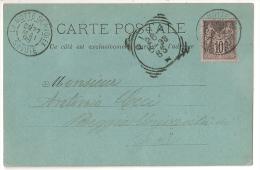 CP Au Type SAGE Repiquée Pensionnat De  LA MOTTE SERVOLEX Savoie Pour PISA, Italie. - Marcophilie (Lettres)