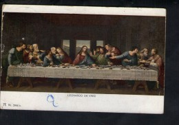N710 QUADRO RELIGIOSO - LEONARDO DA VINCI : ULTIMA CENA - UNIVERSAL GALERIE SERIE 257 - USED - Paintings, Stained Glasses & Statues