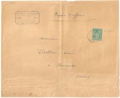 Tarif Papiers D'affaire, FLUMET Savoie Sur Devant De Grande Enveloppe Au Type SAGE. - Marcophilie (Lettres)