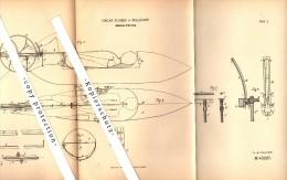 Original Patent - Oscar Scheer In Malapane / Ozimek , Schlesien , 1887 , Untersee-Fahrzeug , U-Boot , Unterseeboot  !!! - Schiffe