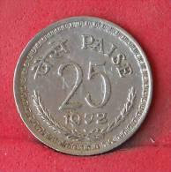 INDIA  25  PAISE  1972   KM# 49,1  -    (Nº11998) - India