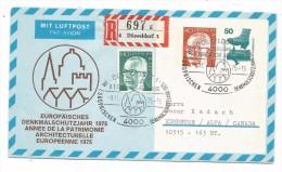 ENVELOPPE-ENTIER POSTAL - 40 ET 50 DEUTSCHE BUNDESPOST-9.11.1975 -EUROPAISCHES DENKMALSCHUTZJAHR 1975 - BRD