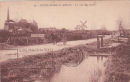 CPA Notre Dame Des Monts, La Route Des Marais,  Moulin, Molen, Windmill (pk19409) - Autres Communes