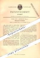 Original Patent - Peter Noe In Mosbach , Baden , 1887 , Apparat Für Hutmacher , Hut , Hüte !!! - Mosbach