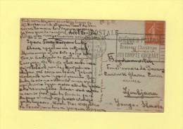 Destination Yougoslavie - Type Semeuse - 1921 - 1921-1960: Modern Period
