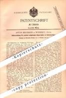 Original Patent - Anton Bergmann In Wormditt / Orneta , 1902 , Sperrgitter Für Schweinetrog , Schweine , Schweinestall ! - Ostpreussen