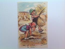 """Carte Postale G Bouret """"Moi ça M'botte La Moisson"""" - Bouret, Germaine"""