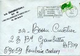 Flamme Illustrée Logo De Seclin,Nord,collégiale De 13.carillon,hospice,Renaissance Flamande,SA Chaudrofrance,lettre 3.7. - Churches & Cathedrals