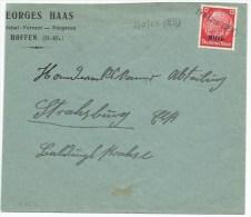 R857 - Provisoire HOFEN -1940 - Entête Marechal Ferrant HAAS - Enveloppe Coupée à Gauche - - Alsace-Lorraine