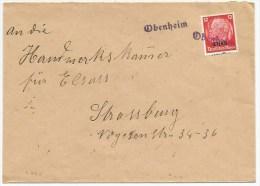 R865 - Provisoire OBENHEIM - 1940 - Gummistempel - - Alsace-Lorraine