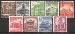Germany 1940 - Buildings - Unused Stamps