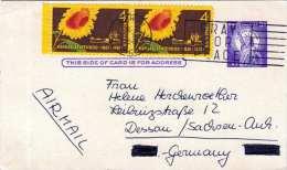 USA 1961 - 3 Fach Frankierung Auf Pk Von Kansas Nach Dessau - Vereinigte Staaten
