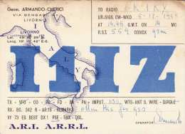 LIVORNO 1948 - QSL Karte Radio OK1KY - Radio