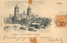 MEXICO CATEDRAL Y ESTACION DE TRAMVIAS STATION DE TRAMWAYS A MEXICO - Mexico