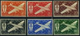 France, Inde : Poste Aérienne N° 1 à 6 Nsg Année 1942 - India (1892-1954)