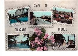 CARTOLINA SALUTI DA QUINZANO D'OGLIO (BRESCIA) - Brescia