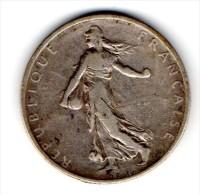 Pi�ce 2 FRANCS 1901  non nettoy�e