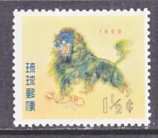 RYUKU ISLANDS   55   *   FAUNA  LION  DANCE - Ryukyu Islands
