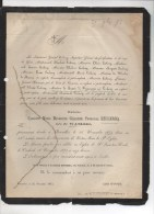 Caroline Leclercq ( Lieutenant Generaal ) Née De Wandre + Bruxelles 24/11/1873 St Josse Ten Node Ixelles - Obituary Notices
